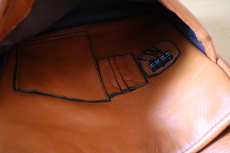PORTERバロンの革ショルダーバッグ